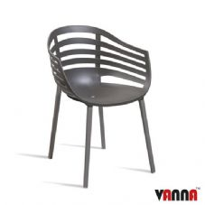 Vanna Lite Arm Chair - Dark Grey